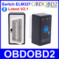 Super Mini ELM327 Bluetooth ELM 327 Power Switch V2.1 OBD2 OBDII Diagnostic Tool With Multi-Languages On Android/Symbian/Windows