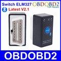 Super Mini ELM327 Bluetooth V2.1 OBD2 Ferramenta De Diagnóstico OBDII ELM 327 Interruptor De Alimentação Com Multi-Línguas Em Android/Symbian/Windows