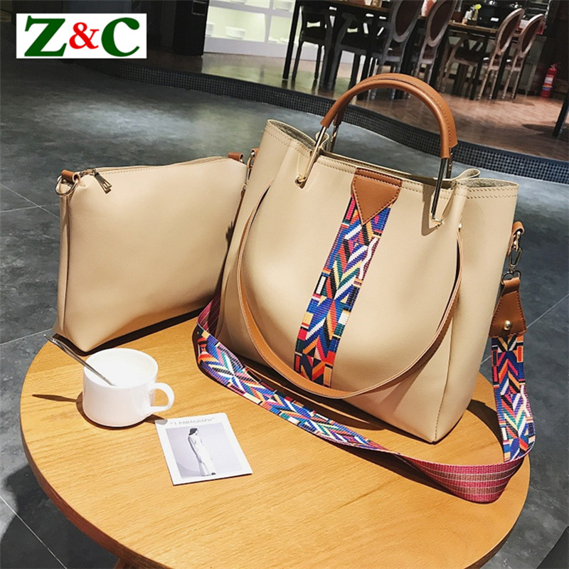 2pcs Women Handbags Luxury Designer Shoulder Bag Female Leather Handbag Women Bucket Tote Bags Ladies Messenger Bags Sac Bolsas 2017 women leather handbag of brands women messenger bags cross body ladies shoulder bag luxury handbags designer s 83
