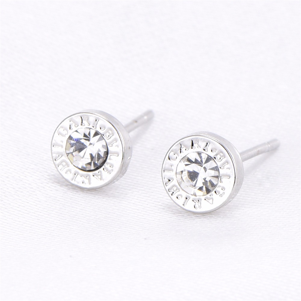 cute earrings 8mm 6mm silver color metal earrings week jewelry girl lady low price 84227 gold earrings for women
