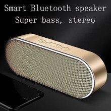 цена на Smart Bluetooth speaker 3D stereo surround sound effect dual horn super bass DSP digital noise reduction HD call portable design