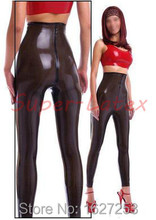 100%Latex Rubber Gummi Legging .4mm Catsuit Pants Latex trousers crotch zipper high waist