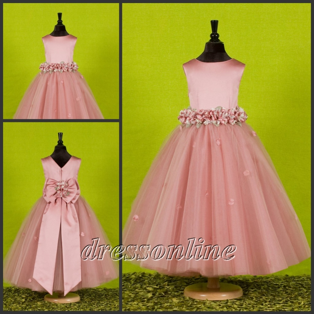 Flower Girl Dresses In Pink Fashion Dresses