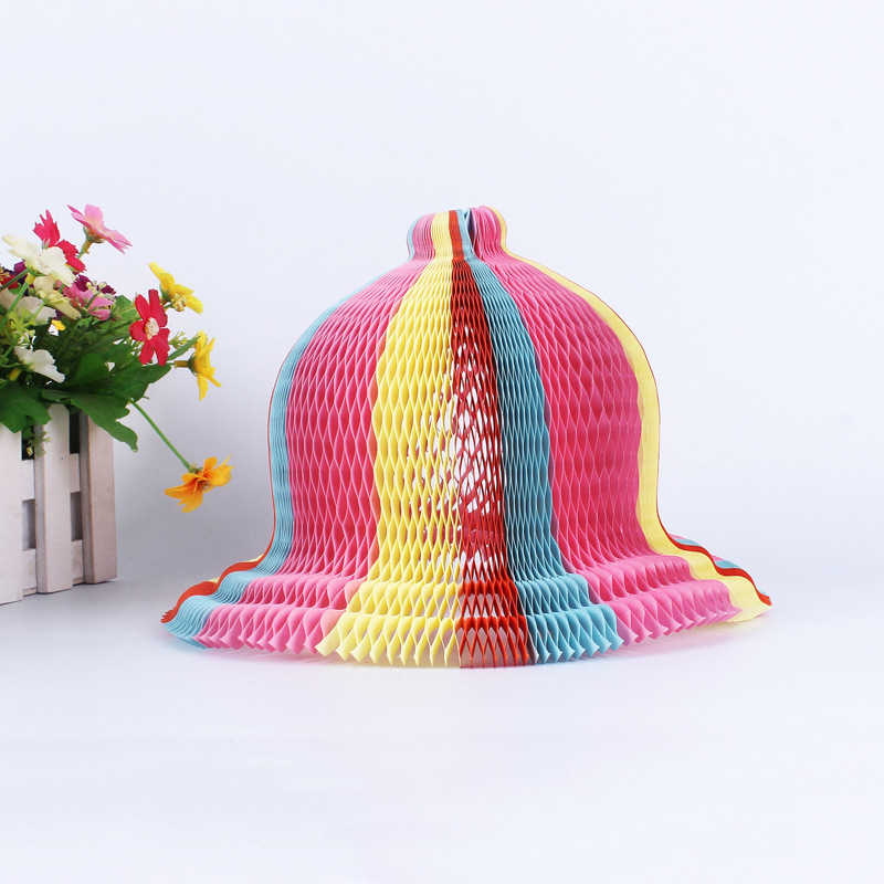 c8ac67ec7c4 2018 Creative Beach Party Flower Vase Magic Paper Hat Variety Magic Tricks  Hat for Baby Kids