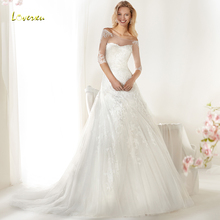 Loverxu Alluring Wedding Dress Bride Dress Court Train