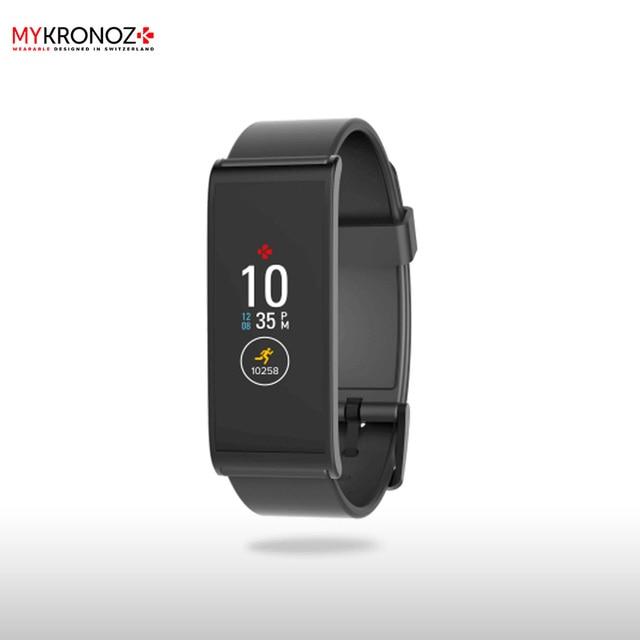 Фитнес-трекер MyKronoz ZeFit4HR цвет черный/черный