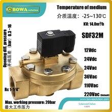 """Вода соленоид vlve с Rc1-1/"""" BSPT с резьбой соединения установлены в геотермальный тепловой насос нагрева воды для подогрева пола"""