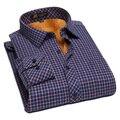 2016 High Quality Mens Long Sleeve Plaid Thermal Shirts, Slim fit Printed Social Dress Shirts, Casual Striped Thermal Shirt Men