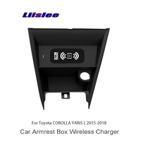 Liislee Car Charger Cup Holder For Toyota COROLLA YARiS L 2015~2018 Wifi Charger Storage Car Cup Frame Car Charger Storage