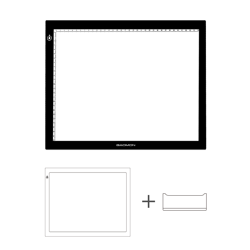 GAOMON GB4 5MM 두께 LED 트레이싱 보드 라이트 패드 GAOMON - 컴퓨터 주변 기기
