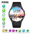 2016 venta caliente kw88 smart watch android 5.1 mtk6580 cpu 1.39 pulgadas 3g wifi reloj teléfono smartwatch para samsung huawei pk gt88 KW18