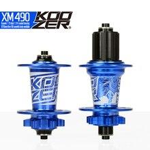 Koozer XM490 герметичный подшипник MTB горный велосипед концентратор Quick Release комплект велосипед концентратор 32 h дисковый тормоз 15/12 мм через оси QR Велосипедные втулки