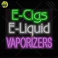 Неоновая вывеска для электронных сигарет электронные жидкие вапоризаторы стеклянная неоновая лампа стеклянная трубка Декор стены пивной ...