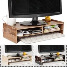 خشبية رصد حامل كمبيوتر محمول حامل الناهض الكمبيوتر منظم مكتب لوحة المفاتيح الماوس تخزين فتحات ل مكتب اللوازم المدرسية المعلم