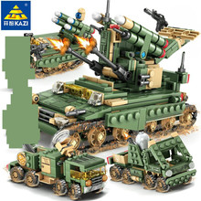 649Pcs Field Army Tank Military WW2 Building Blocks Sets Bricks Soldiers Figures Educational Toys for Children pre order resin toys 35040 ww2 russian tank crew free shipping