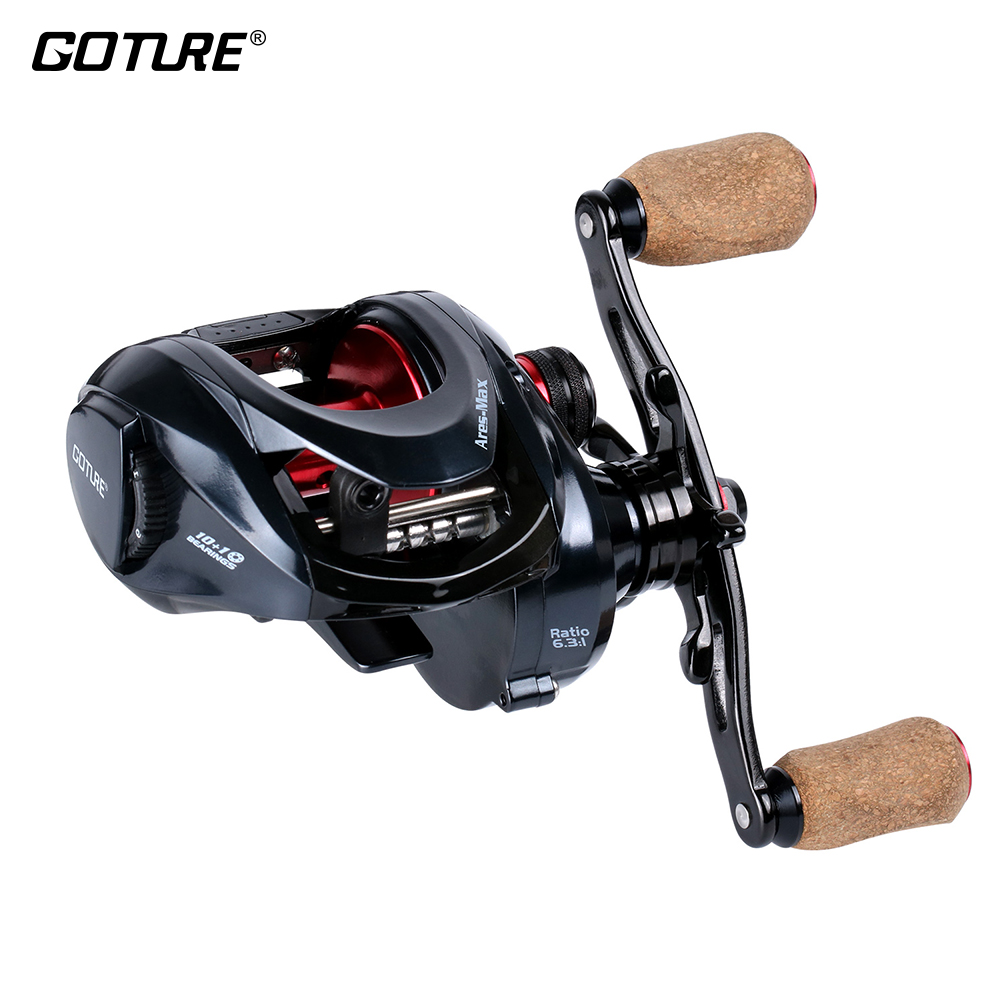 Goture Amazing 10KG/22LBS Drag Power Saltwater Big Game 10+1BB 6.3:1 Metal Body Carbon Drag Magnetic Baitcasting Fishing Reel lucky john croco spoon big game mission 24гр 004
