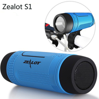 Zealot Waterproof Column Bluetooth Speakers Portable Loudspeakers LED Flashlight Altavoces Soundbar For Cellphone Xiomi Computer