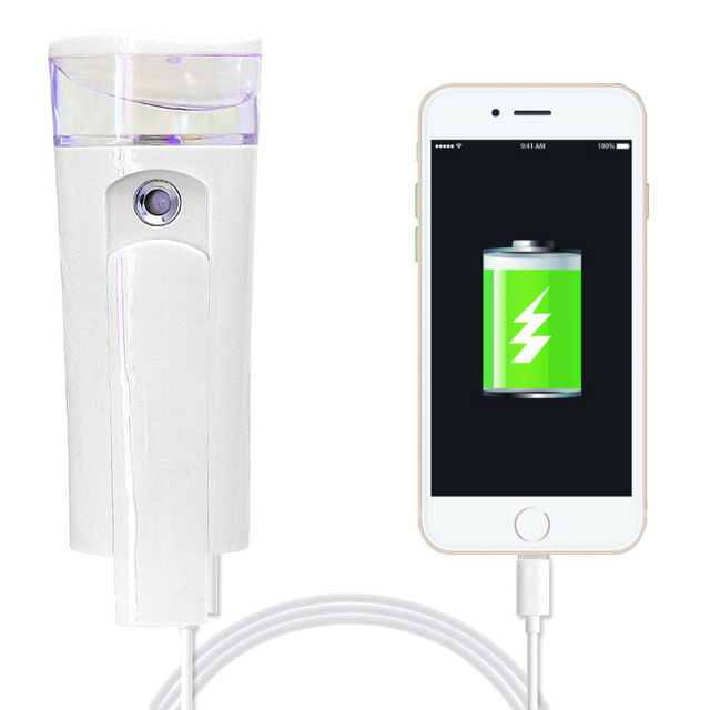2017 Novo Produto Banco de Potência Portátil com Handy Dispositivo Nano Pulverizador de Água para o Rosto Cuidados Com a Pele Hidratante Hidratante