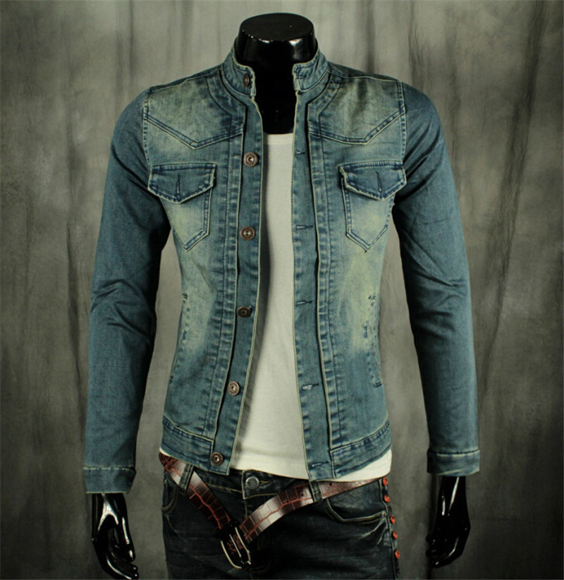 Compare Prices on Mens Denim Biker Jacket- Online Shopping/Buy Low