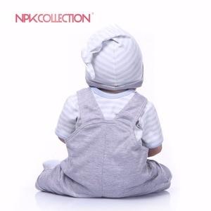 Image 5 - NPK אמיתי 57 CM מלא גוף סיליקון ילד Reborn תינוקות דוב בובת צעצועי נסיכת תינוקות בובת פאת שיער יום הולדת מתנה ילדי Brinquedos