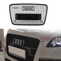 1Pcs Car Racing Grill For Audi RS7 Q7 2006 2015 Grille Emblems Badge Radiator Chrome Front
