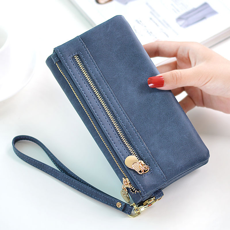 Women Clutch 2017 New Wallet PU Leather Wallet Female Large capacity Long Wallet Women Zipper Purses Coin Purse For phone bag