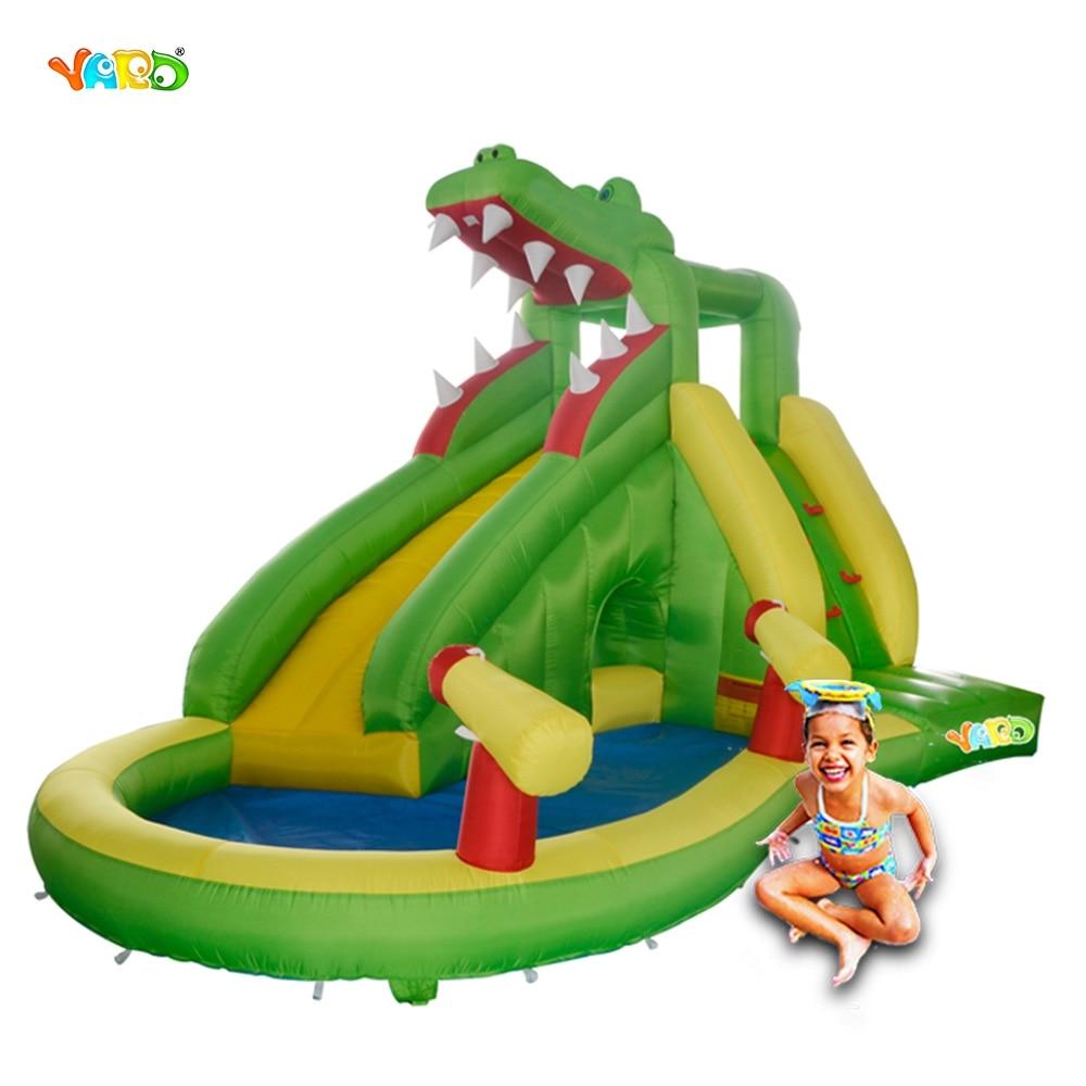 YARD Water Slide Inflatable Water Park Inflatable Water Slide Water Game Playground