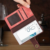 For Sony XZ XZ Premium Leather Phone Cover Removable 2 In 1 Purse Magnetic Bracket Bracket