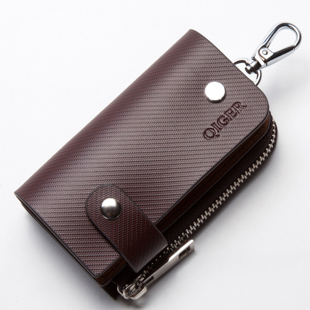 Envío de la nueva marca de moda hombre mujer unisex llaves llaves carteras bolso 100% de cuero de vaca genuino al por mayor grande capacidad