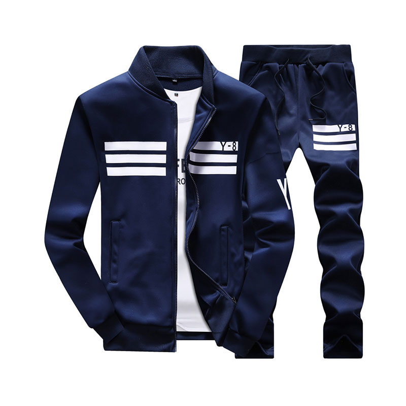 New Men's Casual Suit Designer Fashion Plus Size Casual Baseball Sweatshirts Suit Men Sportwear Pull Home M~9XL AYTZ02