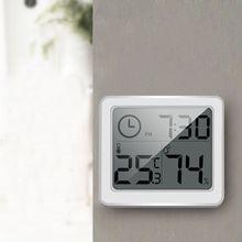"""Автоматические электронные часы с монитором температуры и влажности 3,"""" ЖК-цифровой экран"""