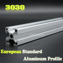 Hot Sale 250mm to 800mm 3030 European Standard Anodized Linear Rail Aluminum Profile Extrusion 3030 for DIY 3D printer CNC european standard carbon steel l type connection plate for 4545 aluminum extrusion profile pack of 2