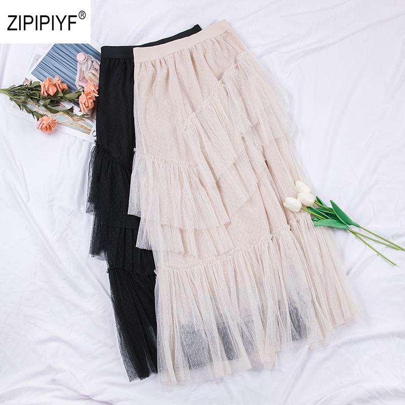 2019 Spring New Arrival Chic Top Selling Skirt Summer Tulle Skirt Elegant A Line Fairy Skirt
