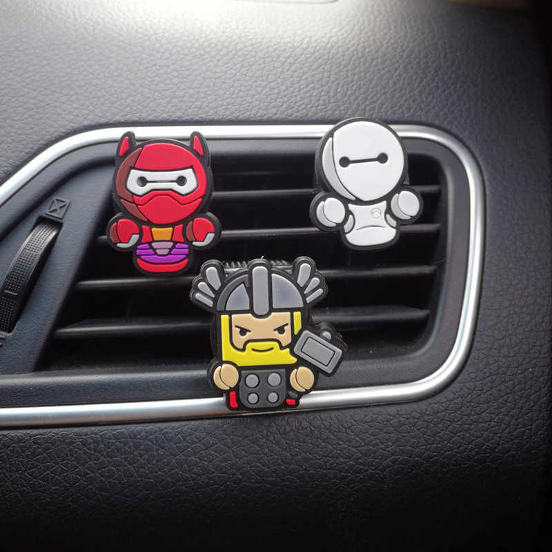 3 шт./компл. автомобильный освежитель воздуха для Marvel Мстители герой фигура Автомобильный интерьер вентиляционное отверстие клип украшения духи запах украшения