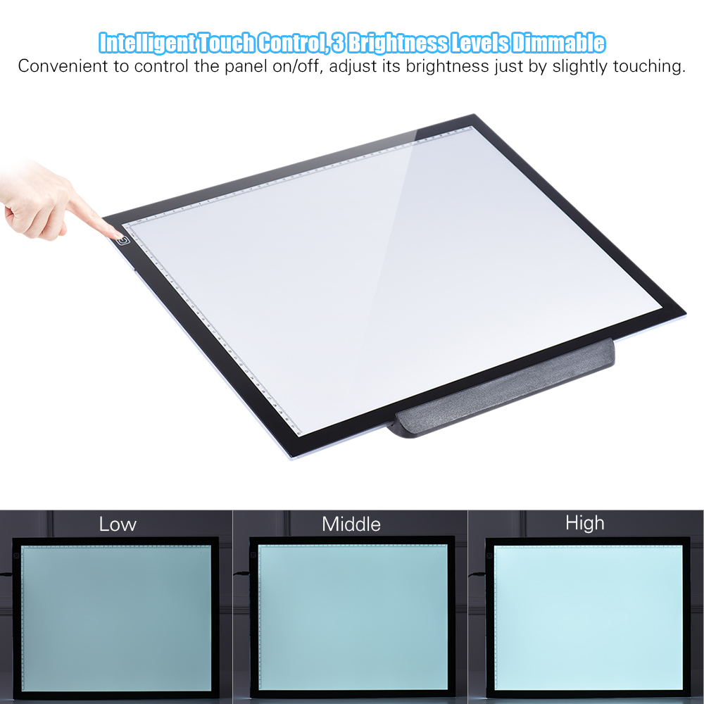 Back To Search Resultstoys & Hobbies A3 Led Light Pad Box Drawing Tracing Tracer Copy Board Intelligent Touch Control 3 Adjustable Brightness Levels Table Pad Panel
