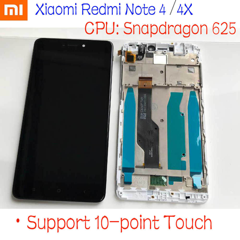 Mtk Helio X20 / Snapdragon 625 Global 32 Gb/64 Gb Lcd Touch Screen Digitizer Vergadering + Frame voor Xiaomi Redmi Opmerking 4 4X