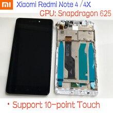 Mtk Helio X20 / Snapdragon 625 Global 32 Gb/64 Gb Lcd Touch Screen Digitizer Vergadering + Frame voor Xiaomi Redmi Opmerking 4 4X