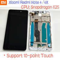 Mtk helio X20/Snapdragon 625 globalny wyświetlacz LCD 32 GB/64 GB montaż digitizera ekranu dotykowego + ramka do Xiaomi Redmi Note 4 4X