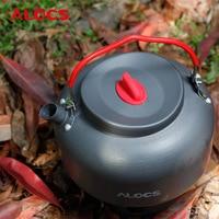 Alocs CW K06 1.4L Outdoor Teapot Kettle + Tea Strainer Set Coffee Pot Camping Equipment Cookware Portable Camp Cooker