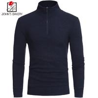 John S Bakery Brand 2018 New Fashion Autumn Casual Sweater Zipper Decoration Slim Fit Knitting Mens