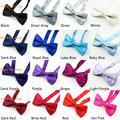 Классический регулируемый детский галстук-бабочка, 24 однотонных цвета. Бесплатная доставка