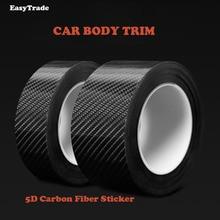 Car Body Trim Carbon Fiber on Stickers Door Bumper Trunk Decoration For Hyundai KONA/KAUAI 2018 Interior Accessories