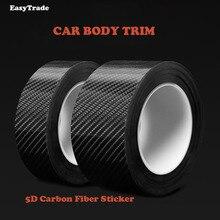 Car Body Trim Carbon Fiber on Stickers Door Bumper Trunk Decoration For Hyundai Tucson IX 35 Ix35 2010-2018 Accessories