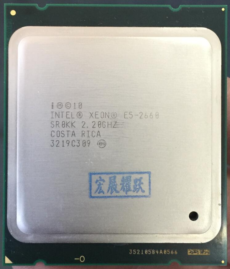 PC computer Intel Xeon Processor E5-2660  E5 2660   (20M Cache, 2.20 GHz, 8.00 GT/s Intel QPI) SROKK C2 LGA2011  CPU