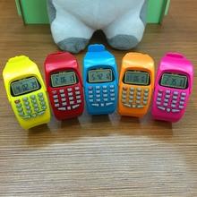 NOYOKERE модный цифровой калькулятор с светодиодный функцией часов, повседневные силиконовые спортивные часы для детей, многофункциональные