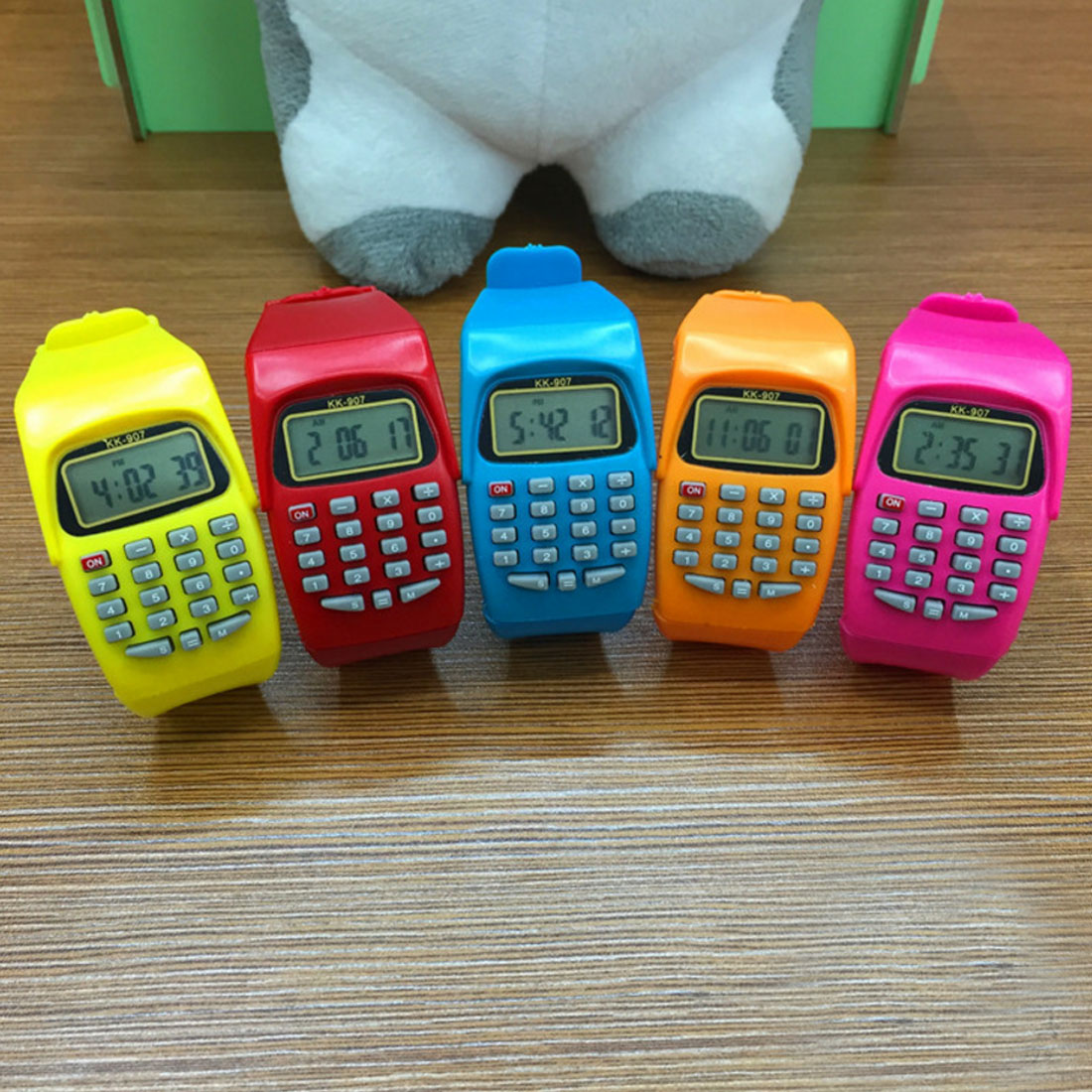все цены на NOYOKERE Fashion Digital Calculator With LED Watch Function Casual Silicone Sports For Kids Children Multifunction Calculating онлайн