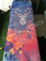 Natural Rubber eco friendly slip resistant Hot Yoga best yoga mat Fitness rubber mat high quality with beautifual pattern