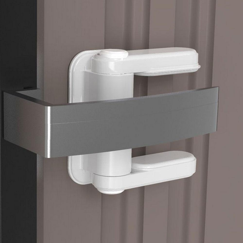 Childproof Safety Door Lock 3M Adhesive Child Knob Lock Baby Safety Door Handle For Bedrooms Balcony