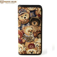DANNY BEAR 2017 New Fashion Women Long Wallets Buttons Card Holder Original Design Lady Kawaii Small