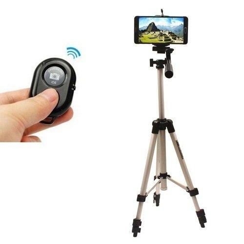 אלומיניום מצלמה חצובה+Bluetooth שליטה על LG סוני HTC one M8 M9 G3 G4 Z3 Z4